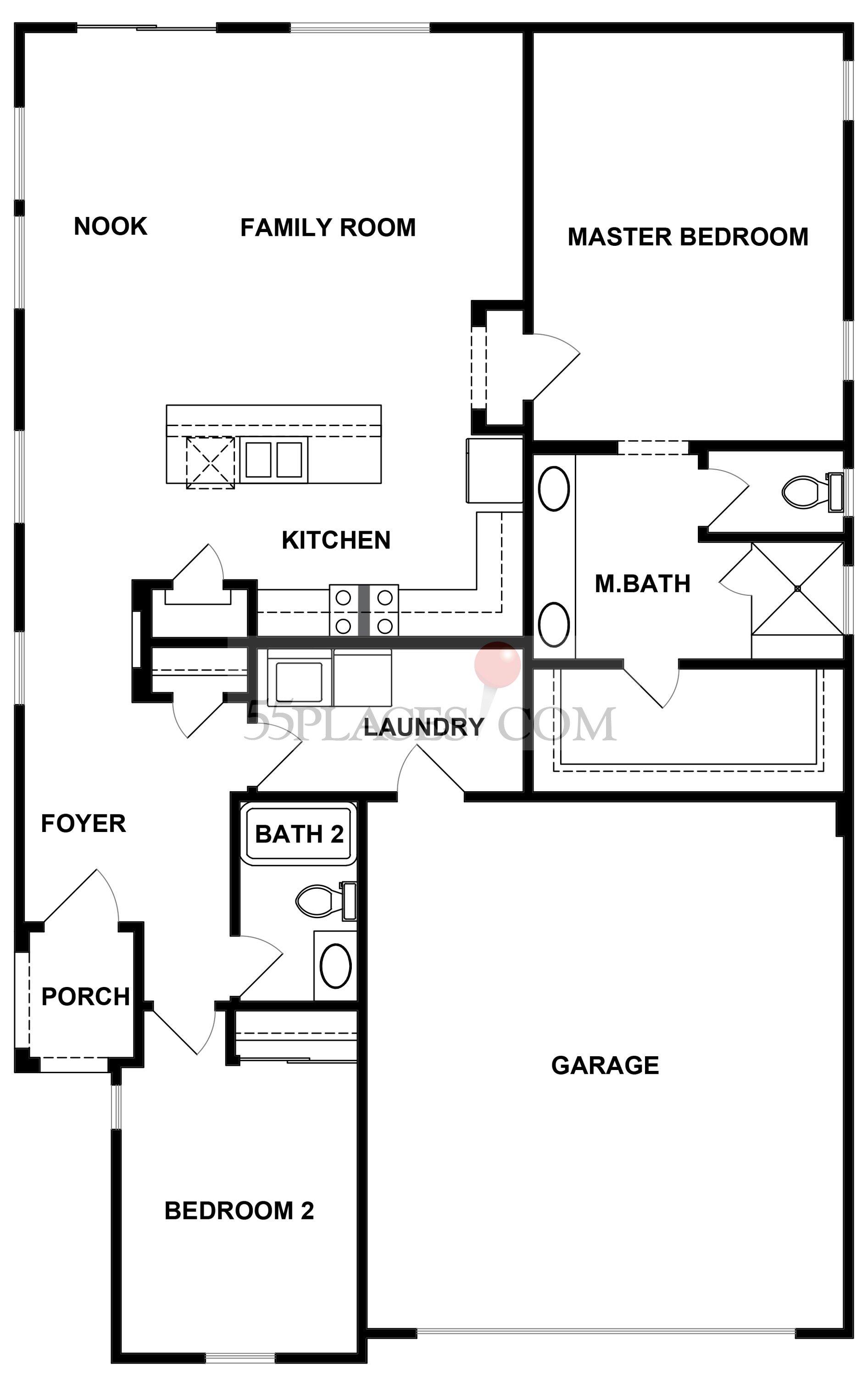 Haven Floorplan 1404 Sq Ft Four Seasons At Beaumont 55places