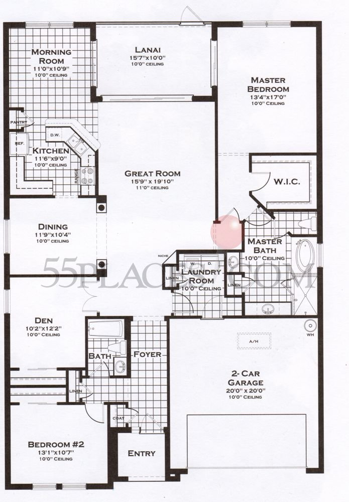 Heron Floorplan 2000 Sq Ft Riverwood 55placescom - Floor Plans 2000 Square Feet