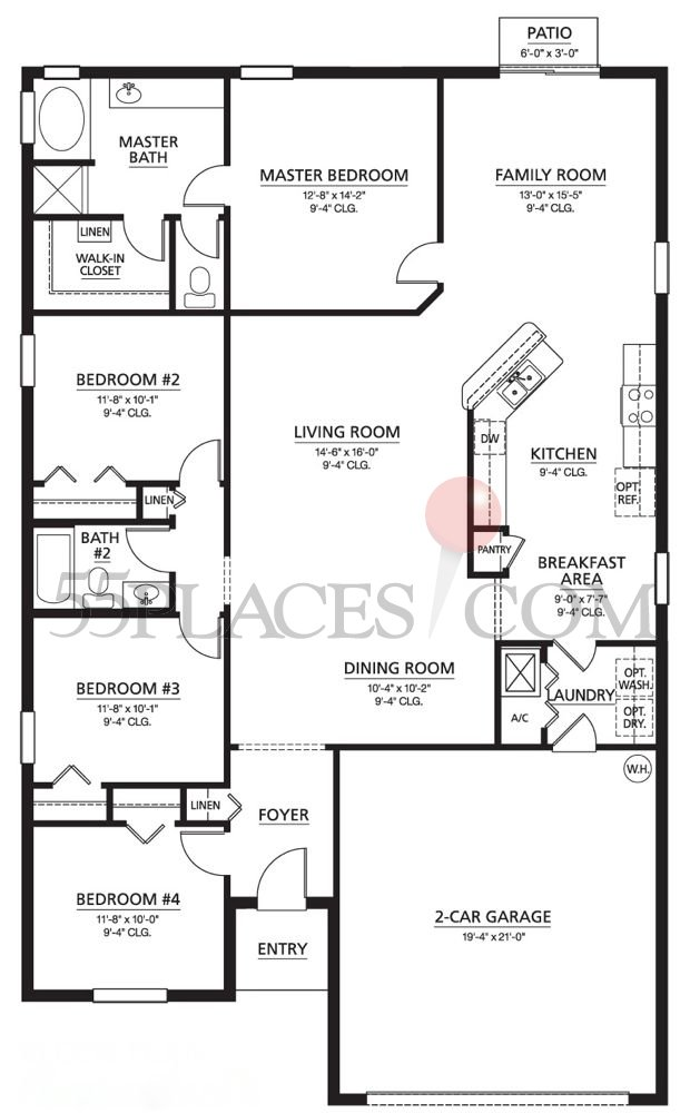 Juniper floorplan 1899 sq ft summertree for Juniper floor plan