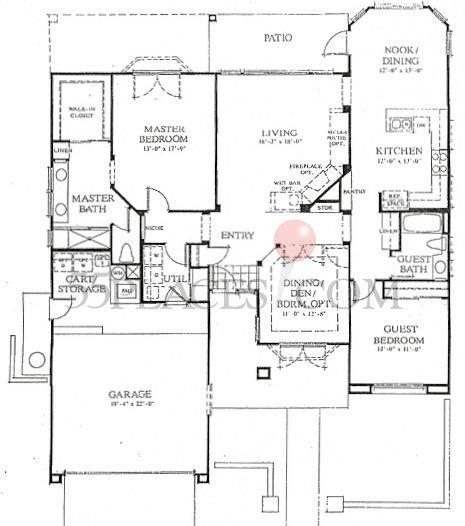 Lenox floorplan 1722 sq ft sun city palm desert for The lenox floor plan