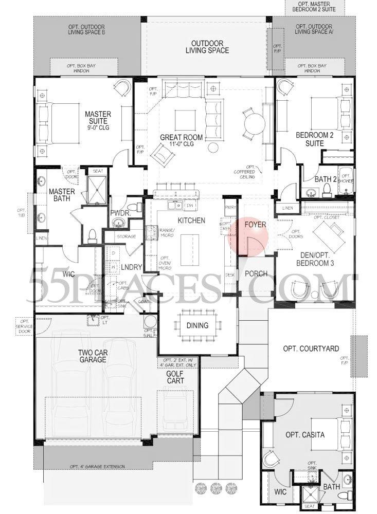 Lexington floorplan 2169 sq ft robson ranch texas for Texas ranch floor plans