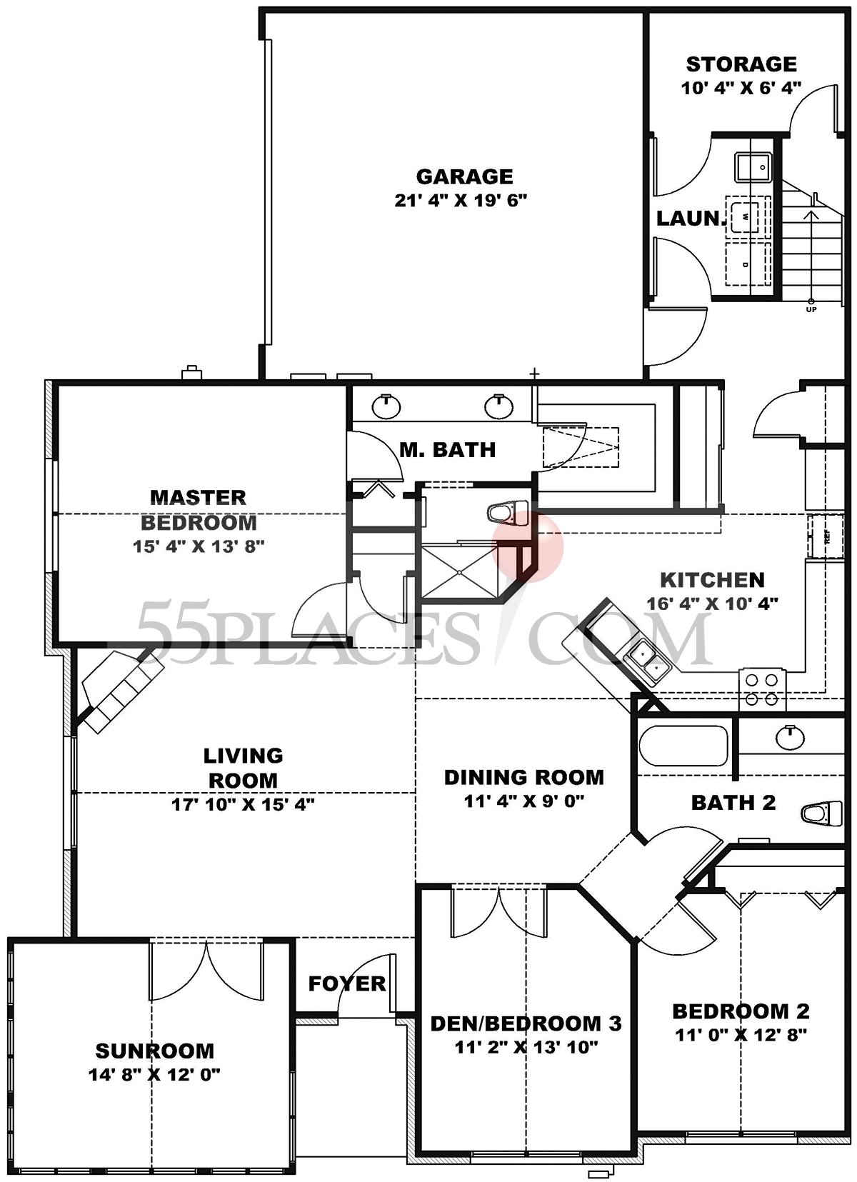 Centebury Ii Floorplan 2270 Sq Ft The Vistas Of Westfield 55places