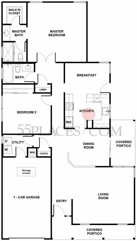 Westport Floorplan 1116 Sq Ft Leisure Knoll