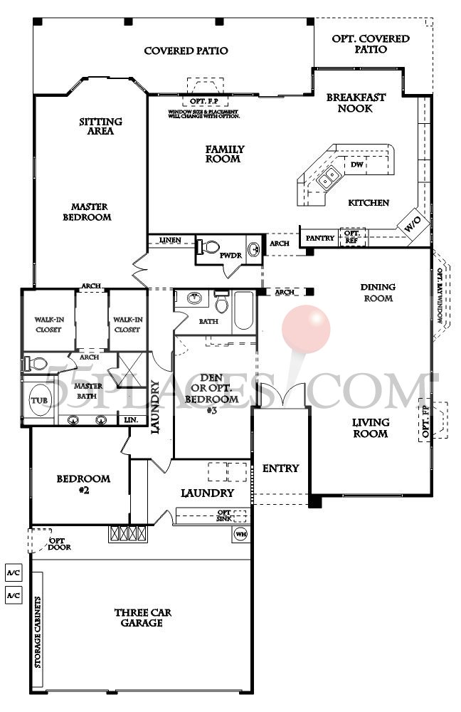 Marbella Floorplan 2841 Sq Ft Sun Lakes 55places Com