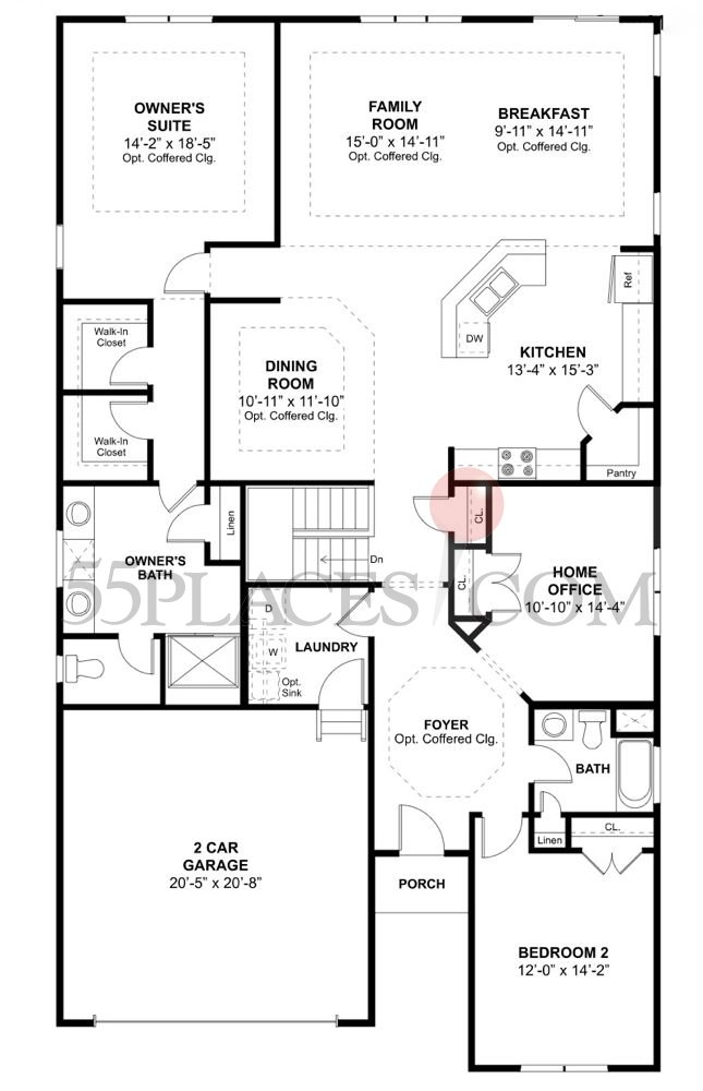 Martinique Floorplan 2207 Sq Ft Four Seasons At