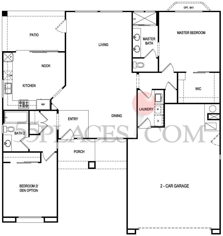 Monarch Floorplan 1353 Sq Ft Sun City Summerlin