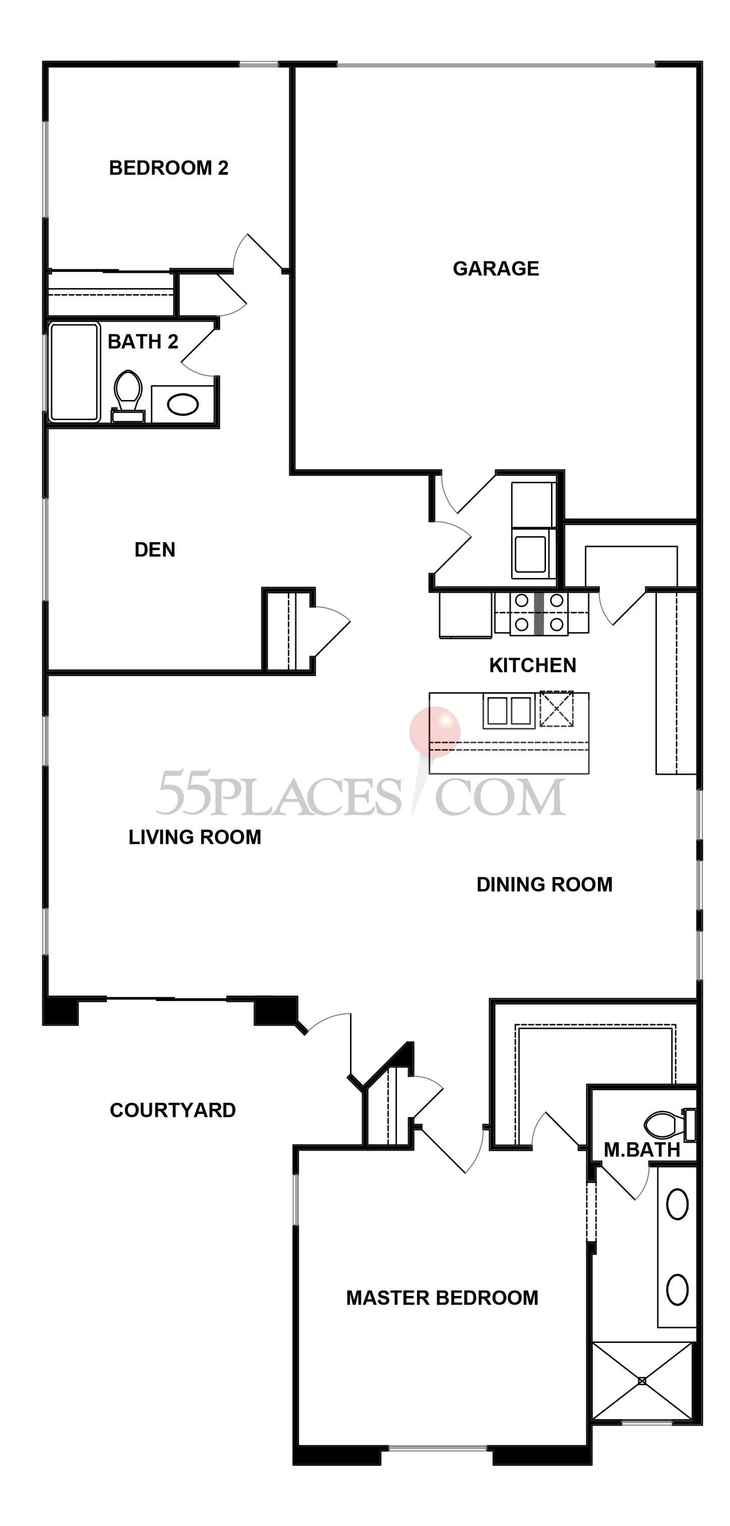 Monarch 3 floorplan 1556 sq ft four seasons at for Monarch homes floor plans