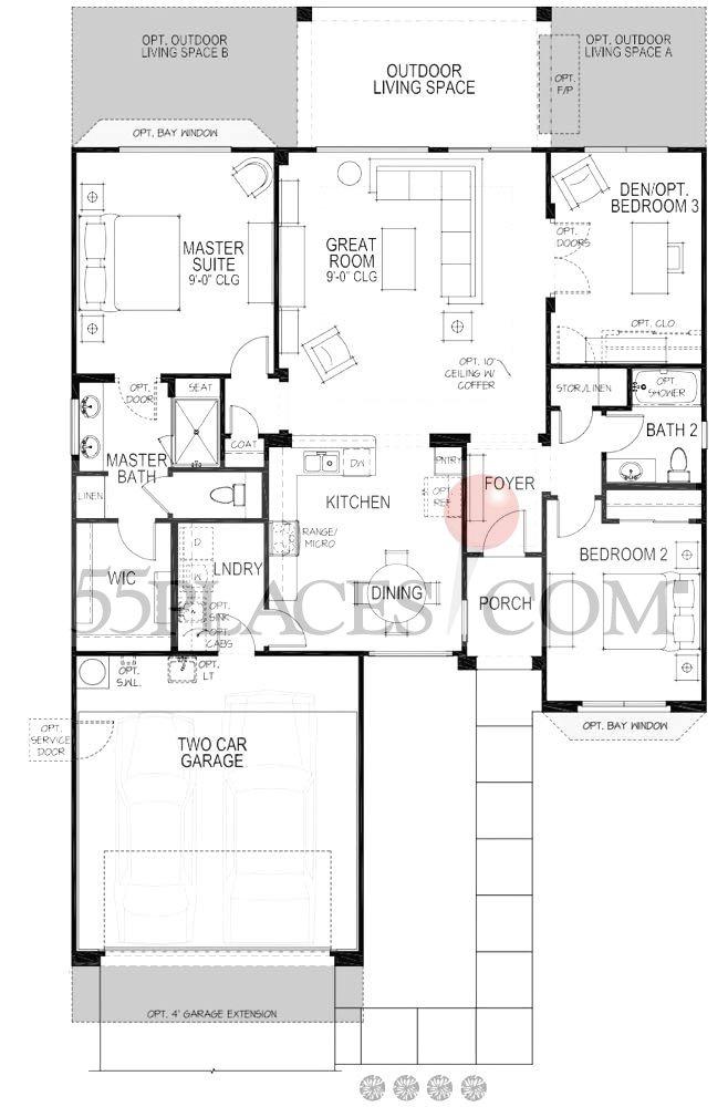 Nolan Floorplan 1624 Sq Ft Robson Ranch Texas