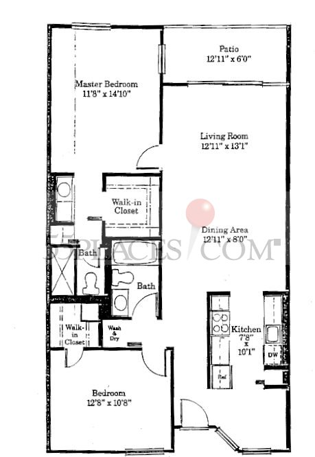 Model P Floorplan 1106 Sq Ft Century Village At