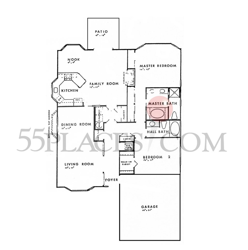 Parkview Floorplan 1680 Sq Ft Fairway Village 55places