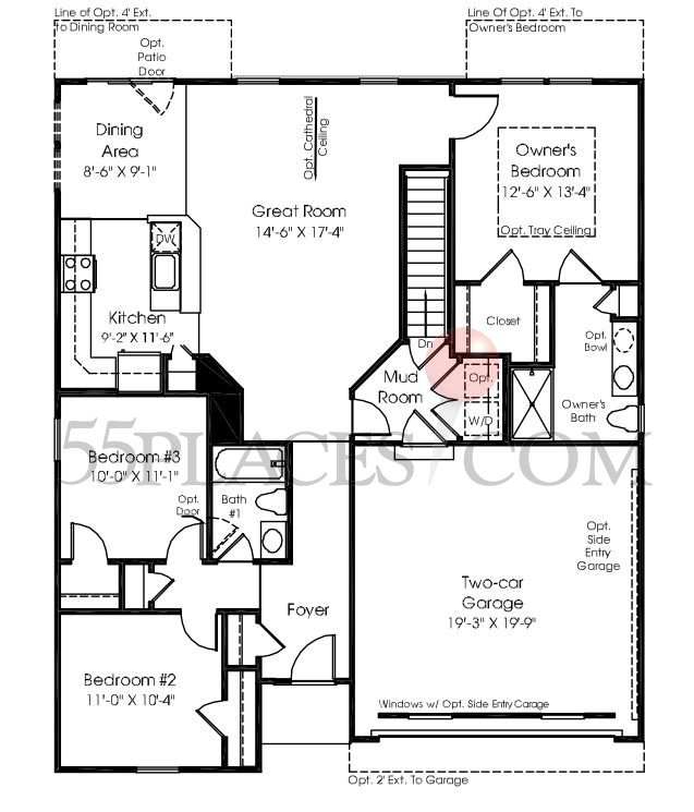 Pisa Torre Floorplan | 1406 Sq. Ft