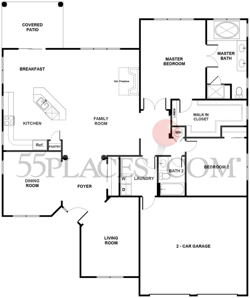 Prestwick Floorplan 1900 Sq Ft Regency At Dominion Valley 55places