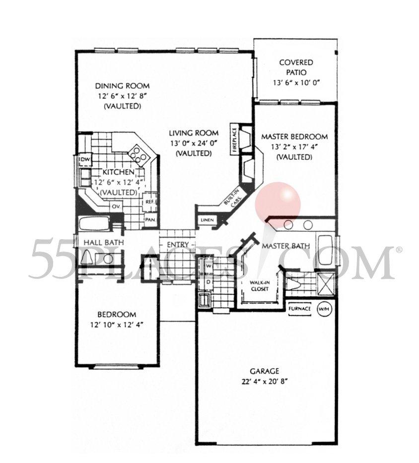 Riviera Floorplan 1704 Sq Ft Fairway Village 55places