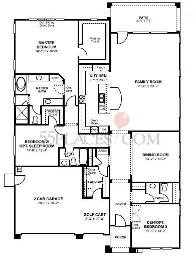 Rosette Floorplan 2700 Sq Ft Four Seasons At Beaumont 55places