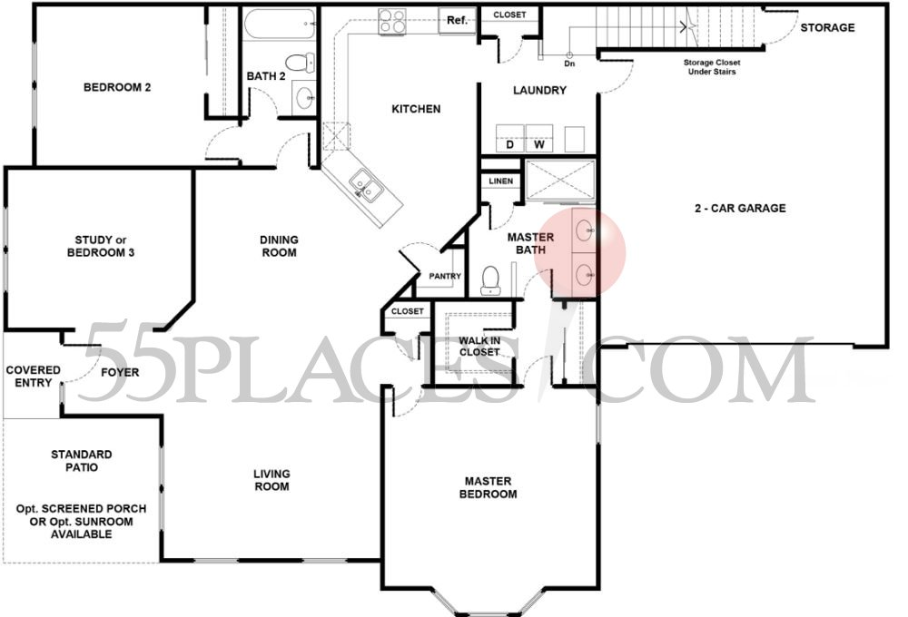 Rosewell floorplan 2300 sq ft the villages of flowers for 2300 square foot house plans