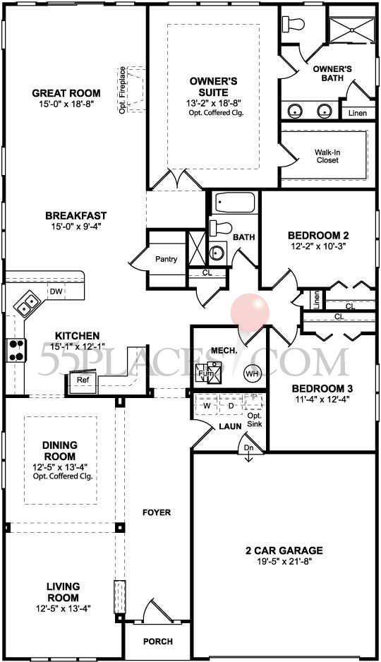 Sanibel Floorplan 2337 Sq Ft Four Seasons At
