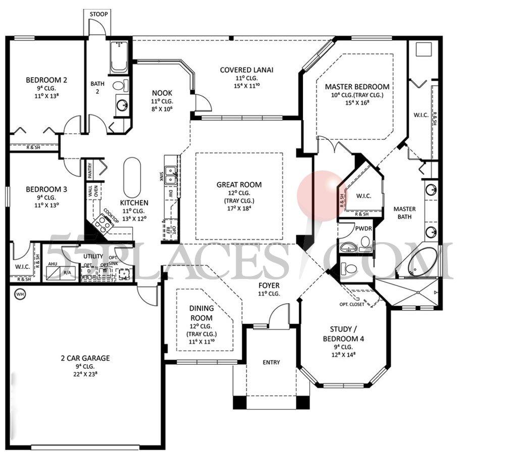 Saratoga Ii Floorplan 2587 Sq Ft Grand Haven