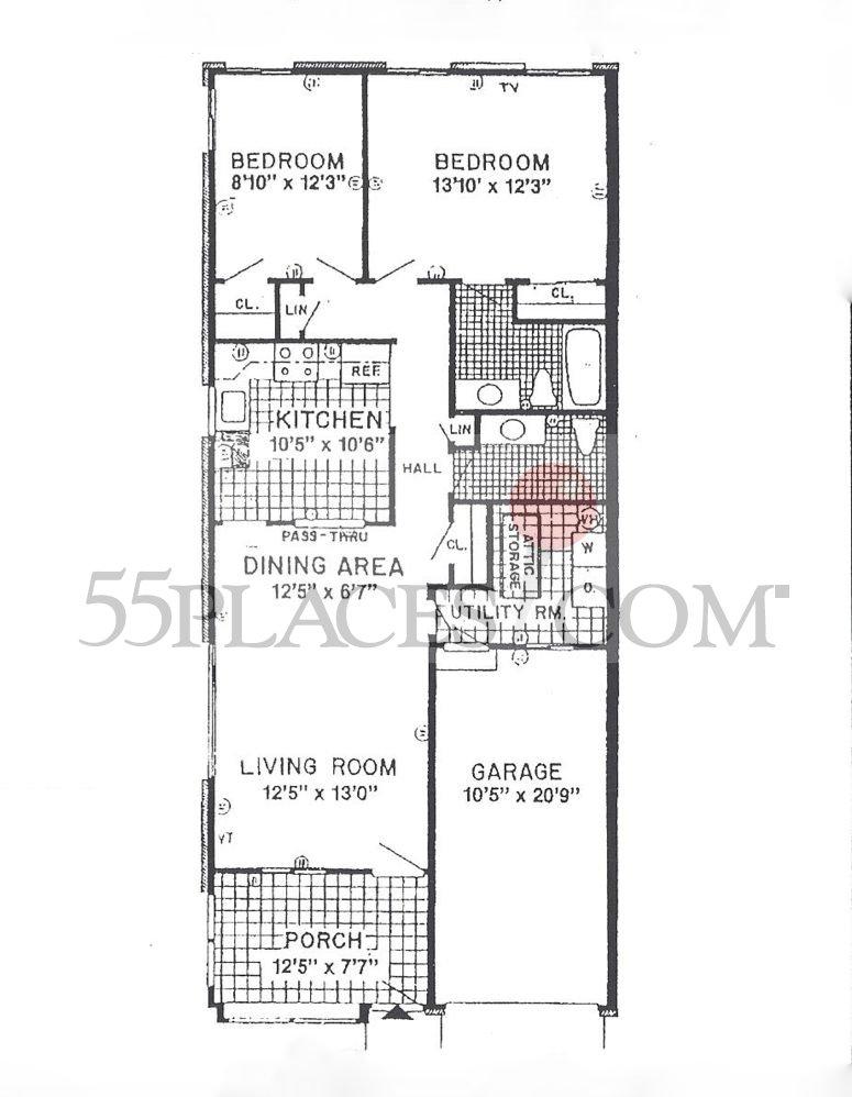 Sheffield floorplan 1002 sq ft crestwood village 6 for Sheffield floor plan