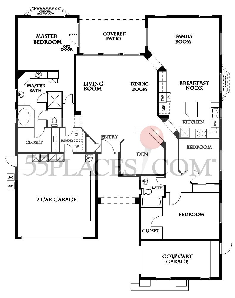 Sonoma Floorplan 2368 Sq Ft Sun Lakes 55places