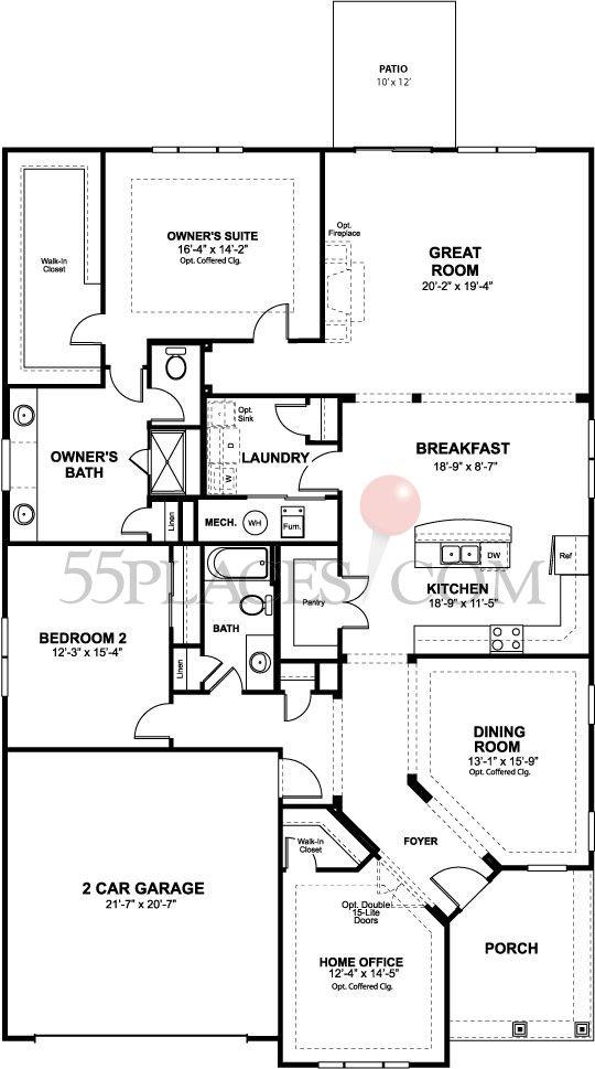 St Simon Floorplan 2489 Sq Ft – Four Seasons Housing Floor Plans