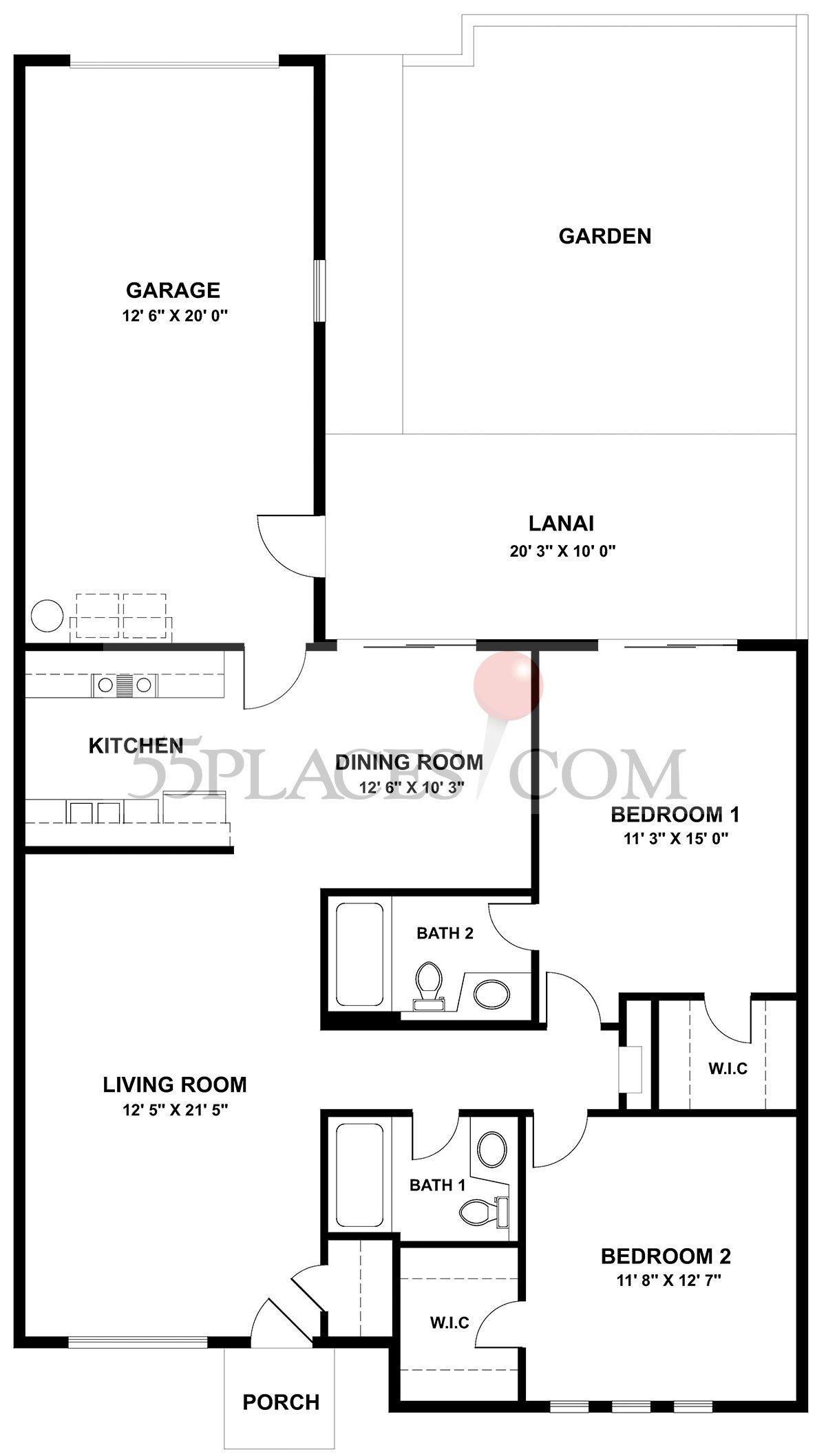 Garden Apartment (A-202)