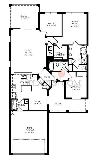Surrey Crest Floorplan 1701 Sq Ft Villagewalk Of