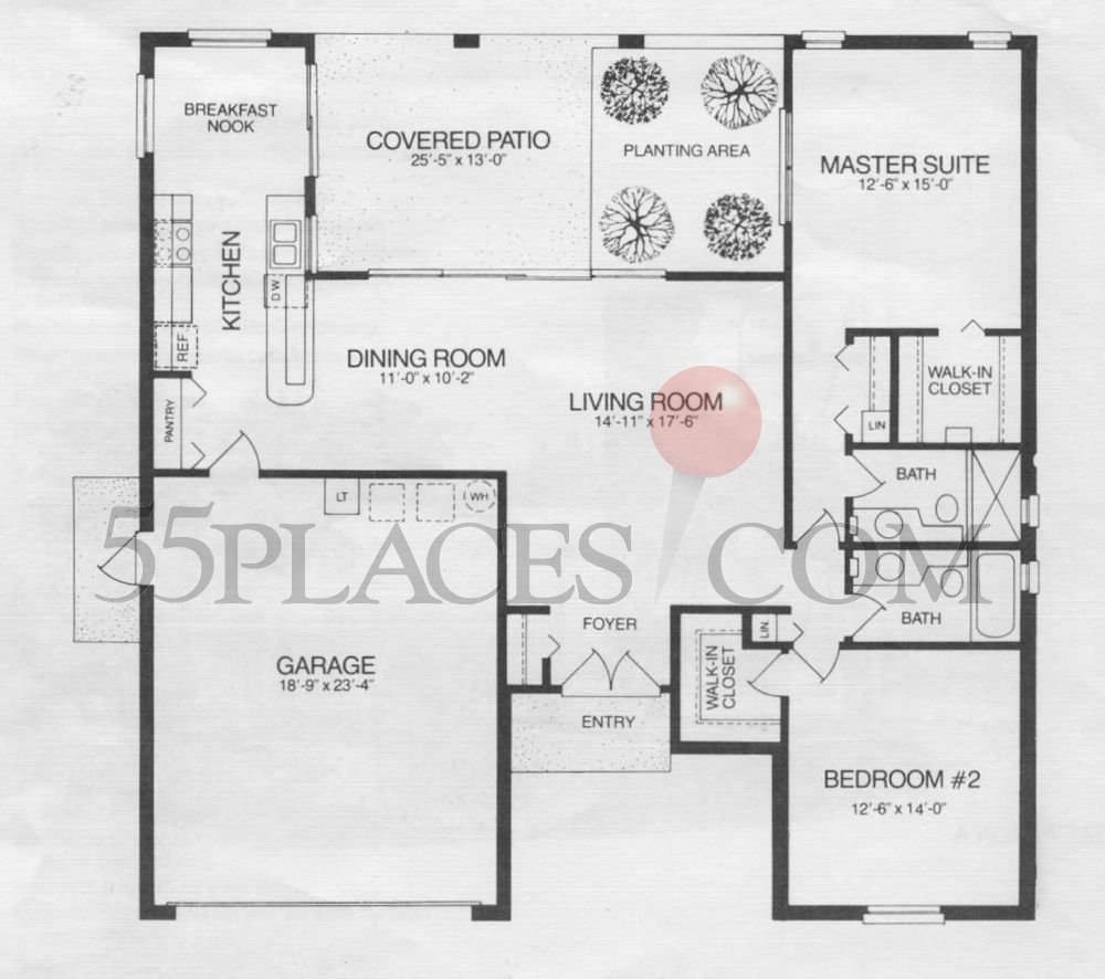 Oakmont Floorplan 1835 Sq Ft Timber Pines 55places Com