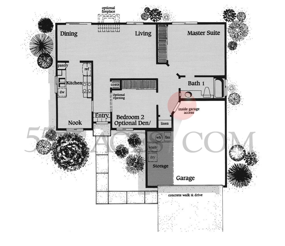 Torrey Pines Apartments: Torrey Pines Floorplan