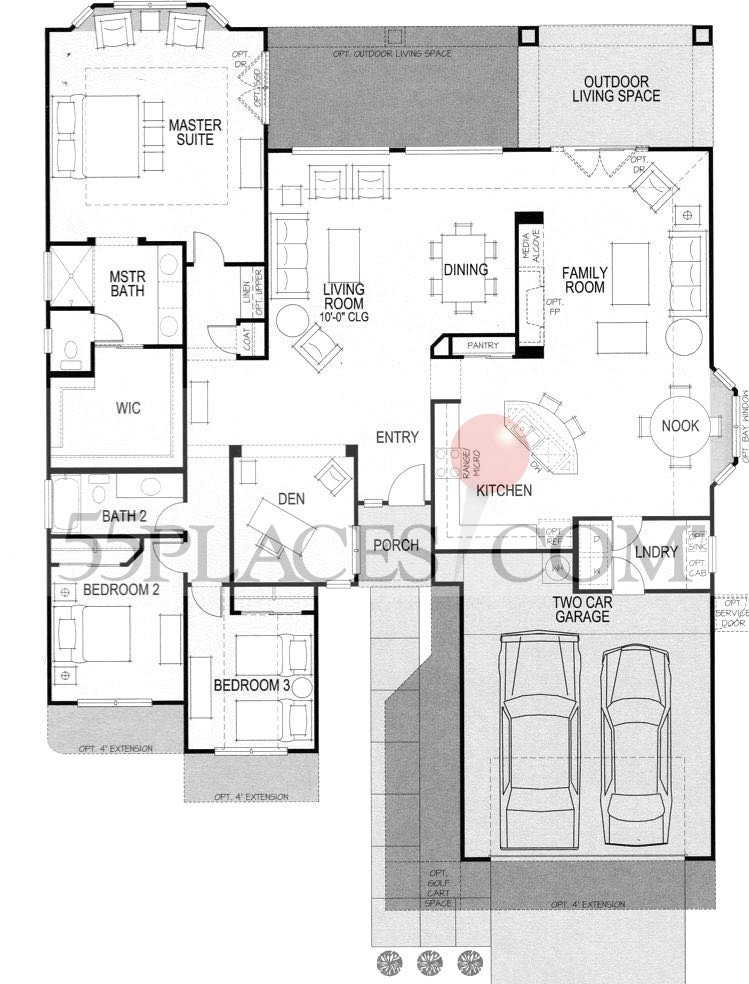 Trova Floorplan | 2192 Sq. Ft | Robson Ranch - Texas | 55places.com