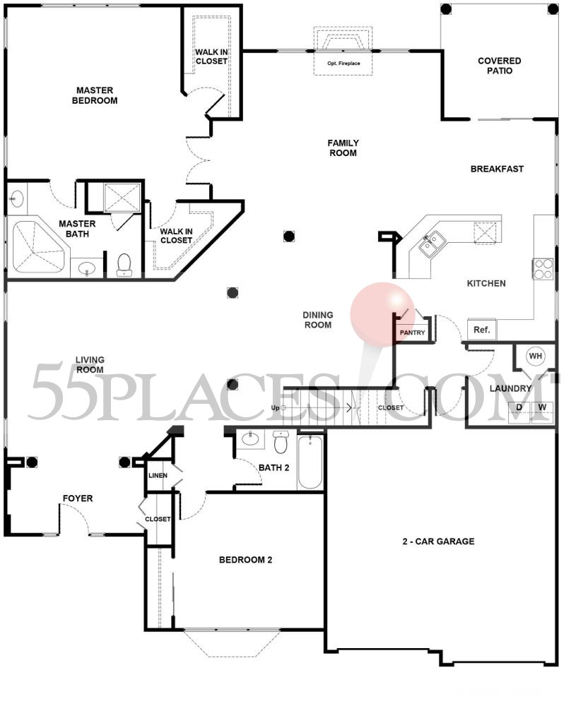 Turnberry Floorplan 2130 Sq Ft Regency At Dominion Valley 55places