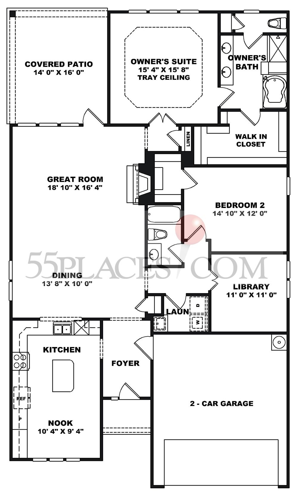 Willow Bend Floorplan 1919 Sq Ft Del Webb At Lake