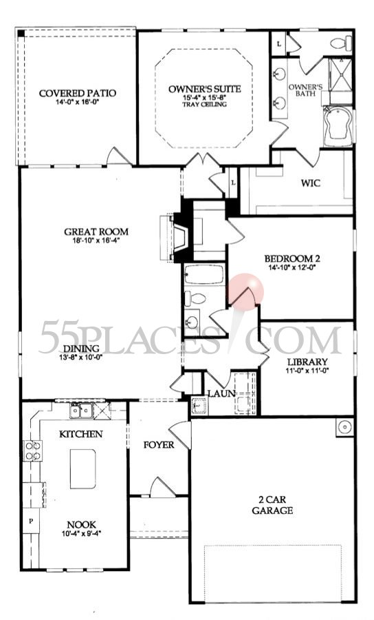 Willow Bend Floorplan 1919 Sq Ft Sun City Peachtree