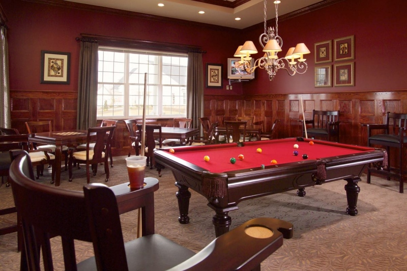 Card Room with Billiards