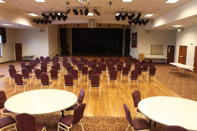 Grand Ballroom with Stage & Dance Floor