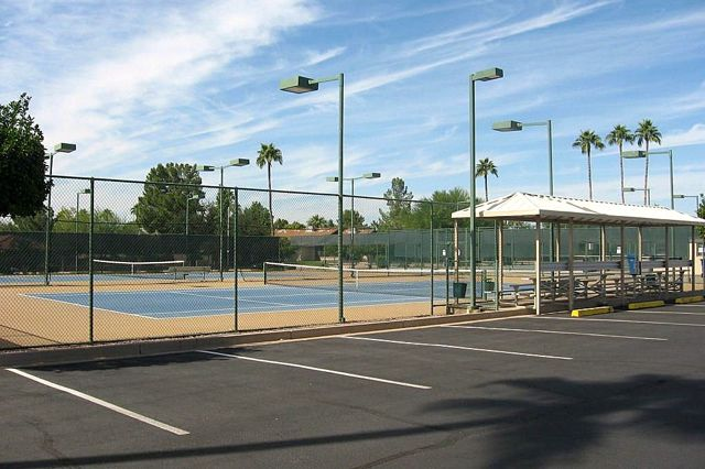 6 Lighted Tennis Courts
