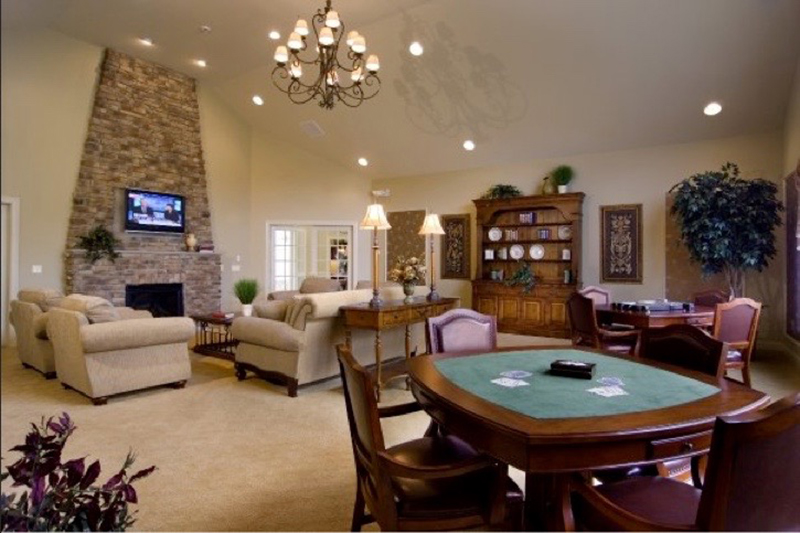 Great Room with Card Table