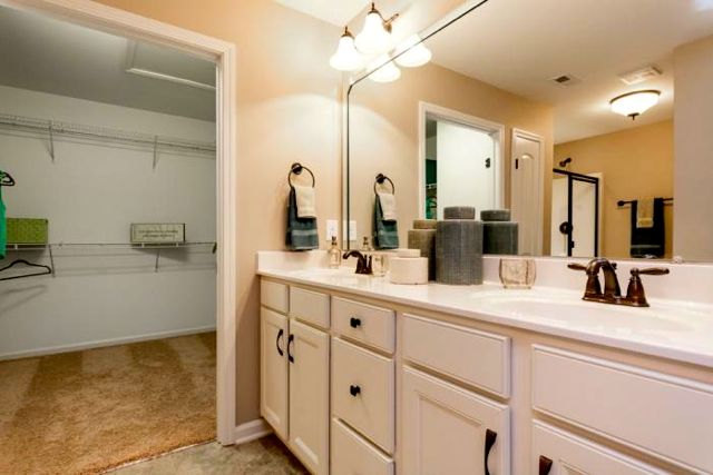 Spacious Master Bathrooms