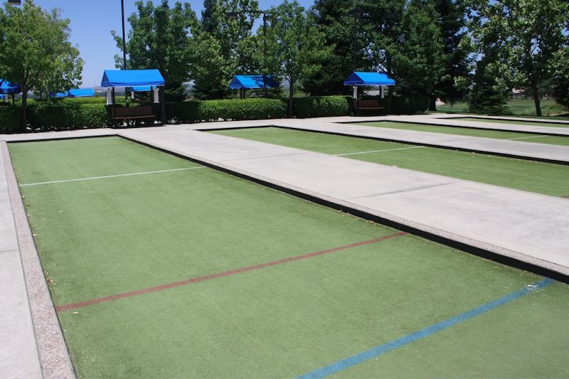 6 Lighted Bocce Ball Courts