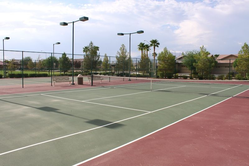 2 Lighted Tennis Courts