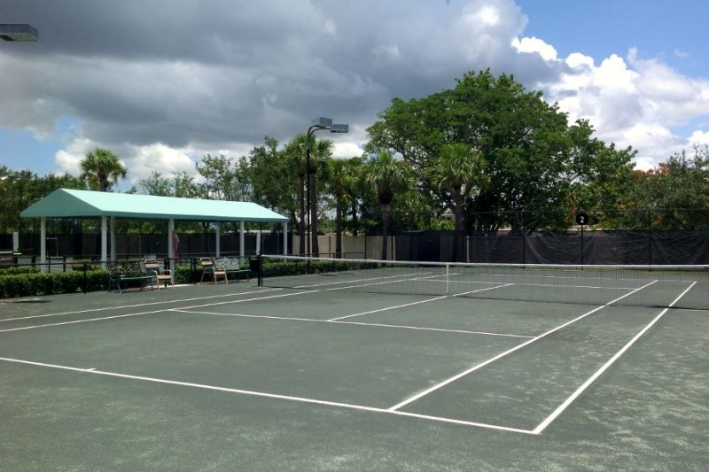 4 Lighted Tennis Courts