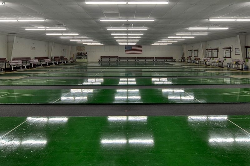 10 Indoor Shuffleboard Courts