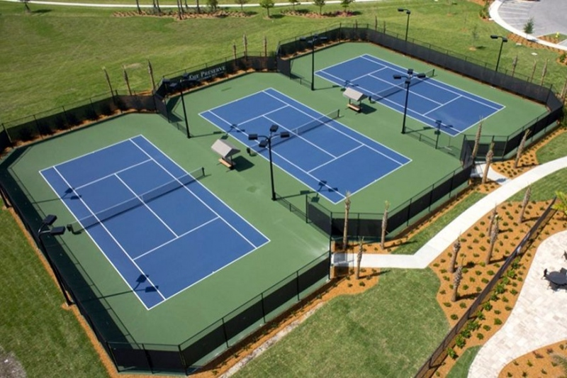3 Lighted Tennis Courts
