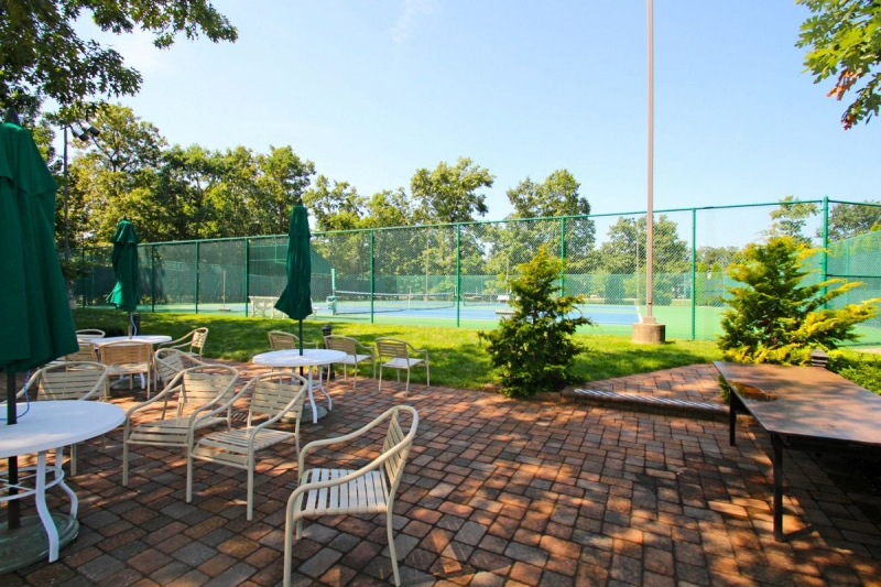 Patio Overlooking Tennis Courts