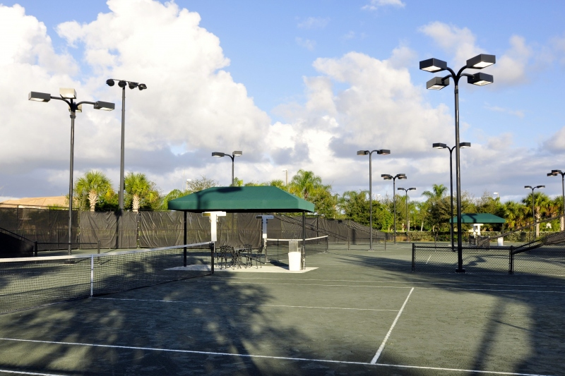 12 Lighted Har-Tru Tennis Courts